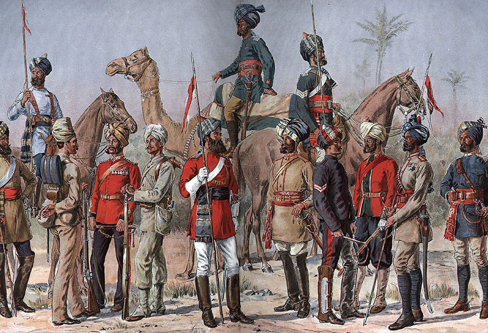 Troops of India During Colonial Times