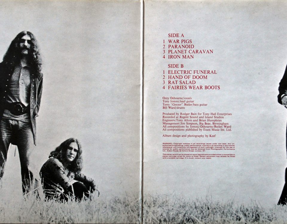 Black Sabbath Paranoid Gatefold